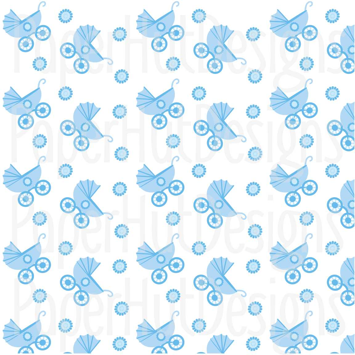 Baby Boy Clipart and Digital Papers Set example image 6