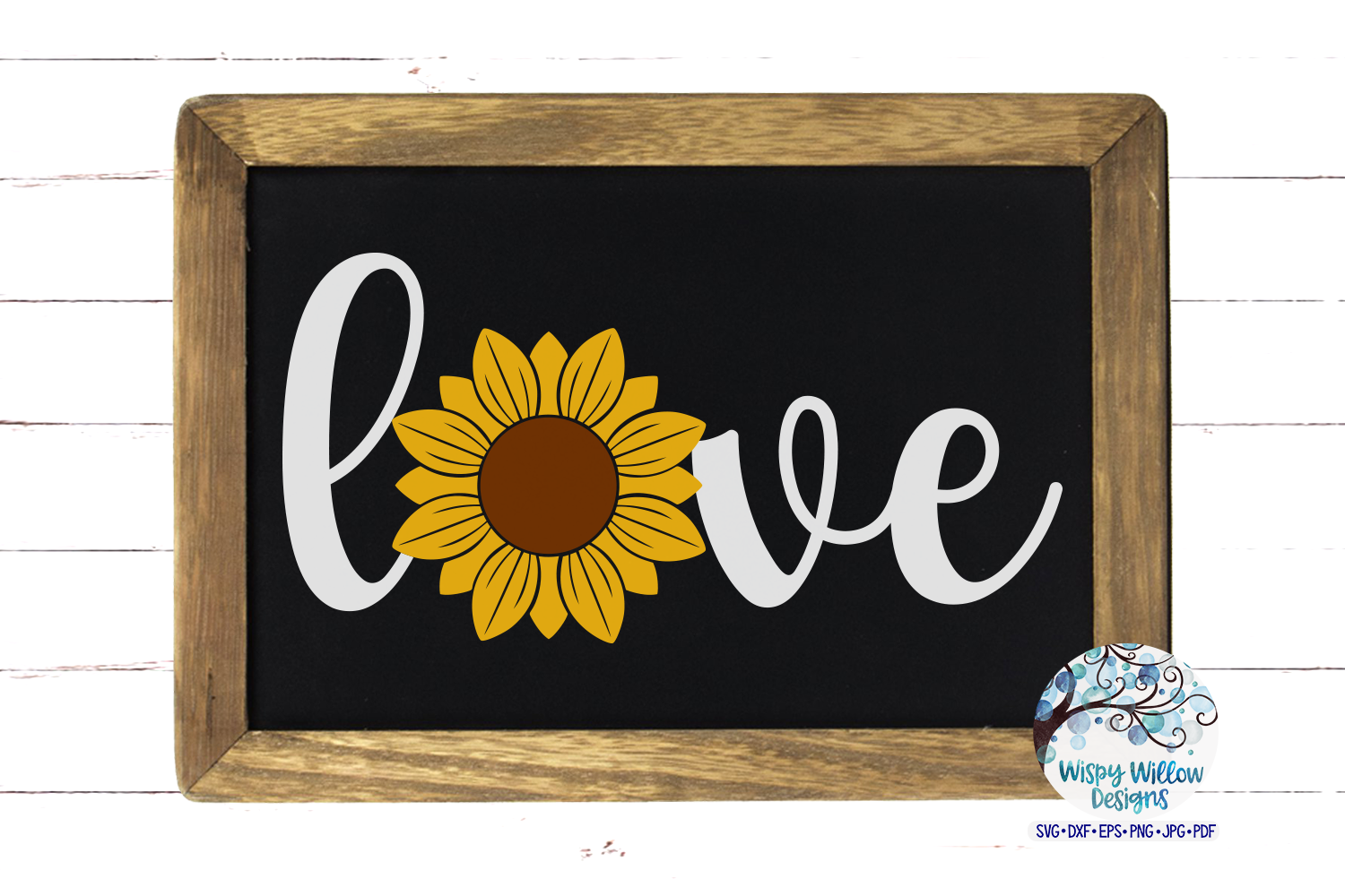Love Sunflower SVG Set   Love Sign   Fall SVG Cut Files example image 2