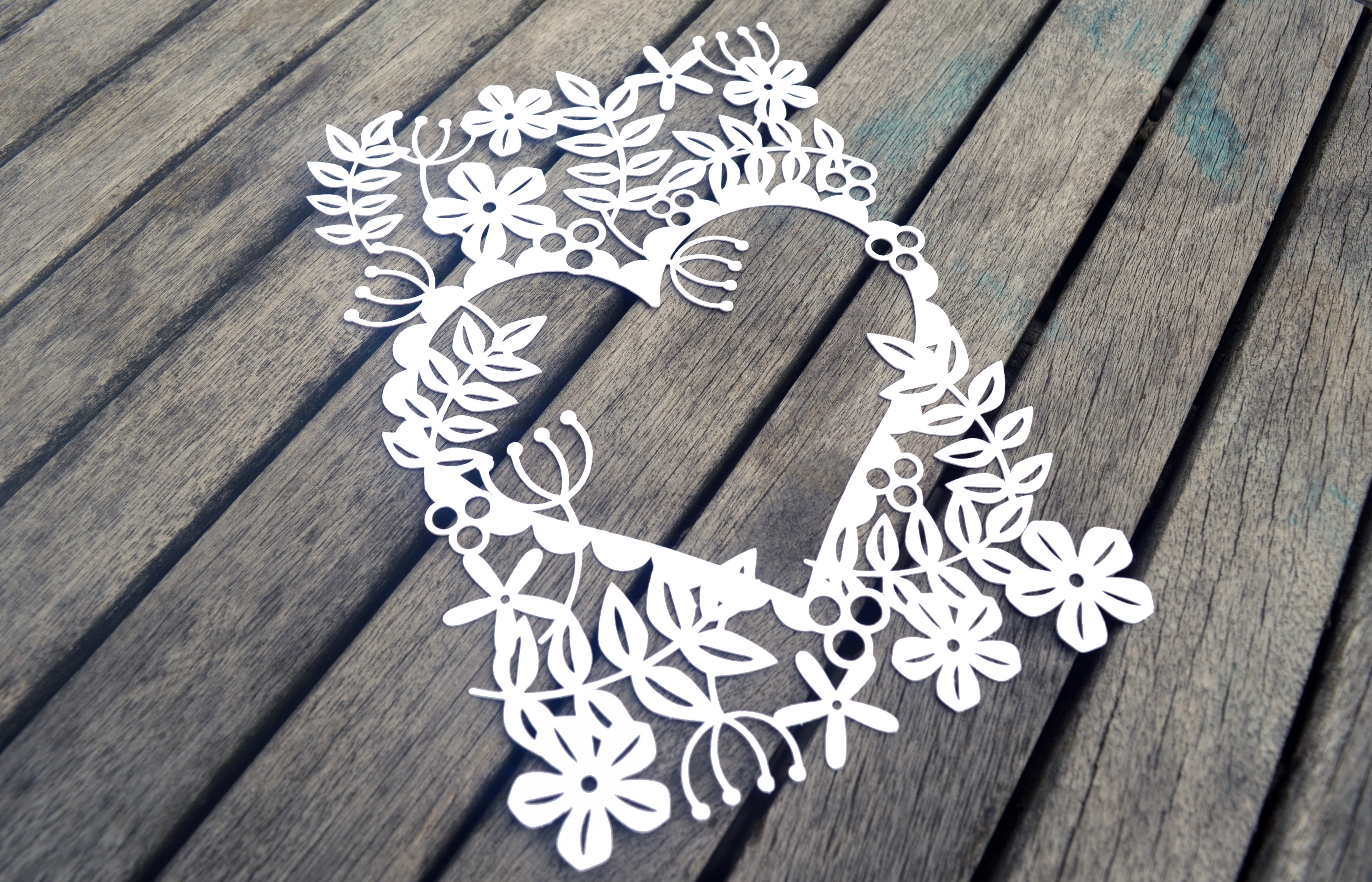 Heart Of Flowers Paper Cut SVG / DXF / EPS File example image 4