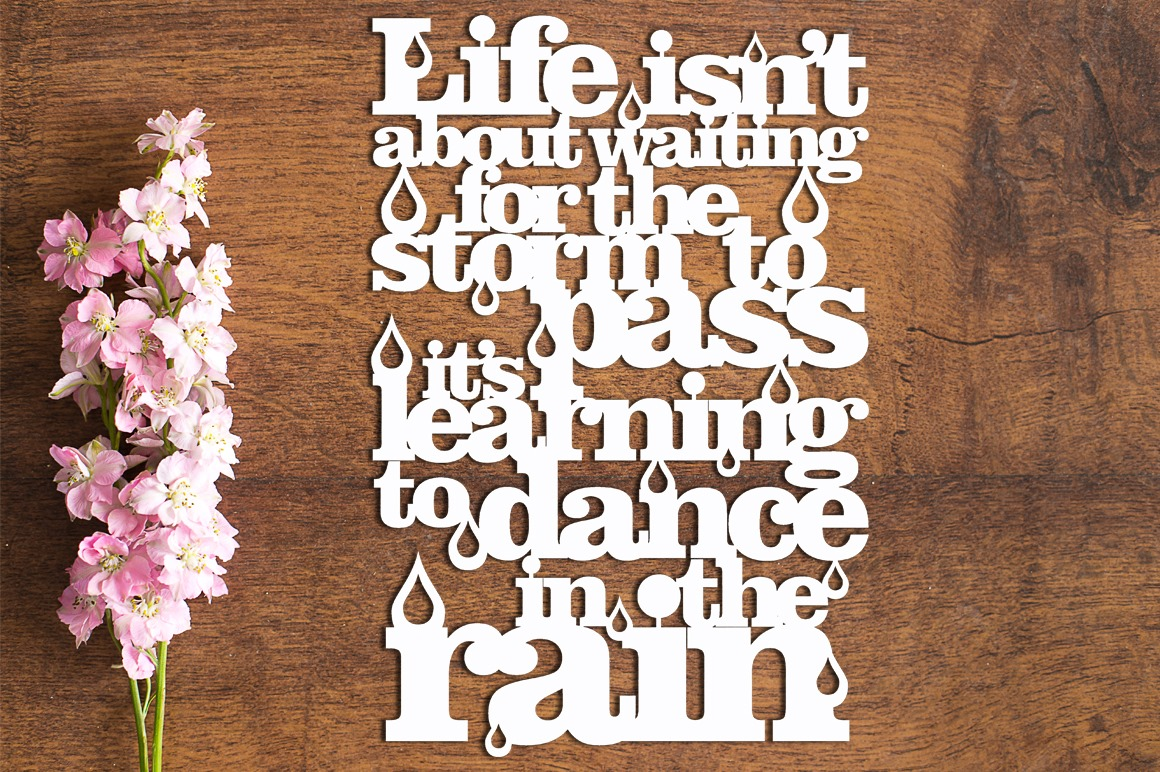 Dance In The Rain - Paper Cutting Template example image 1