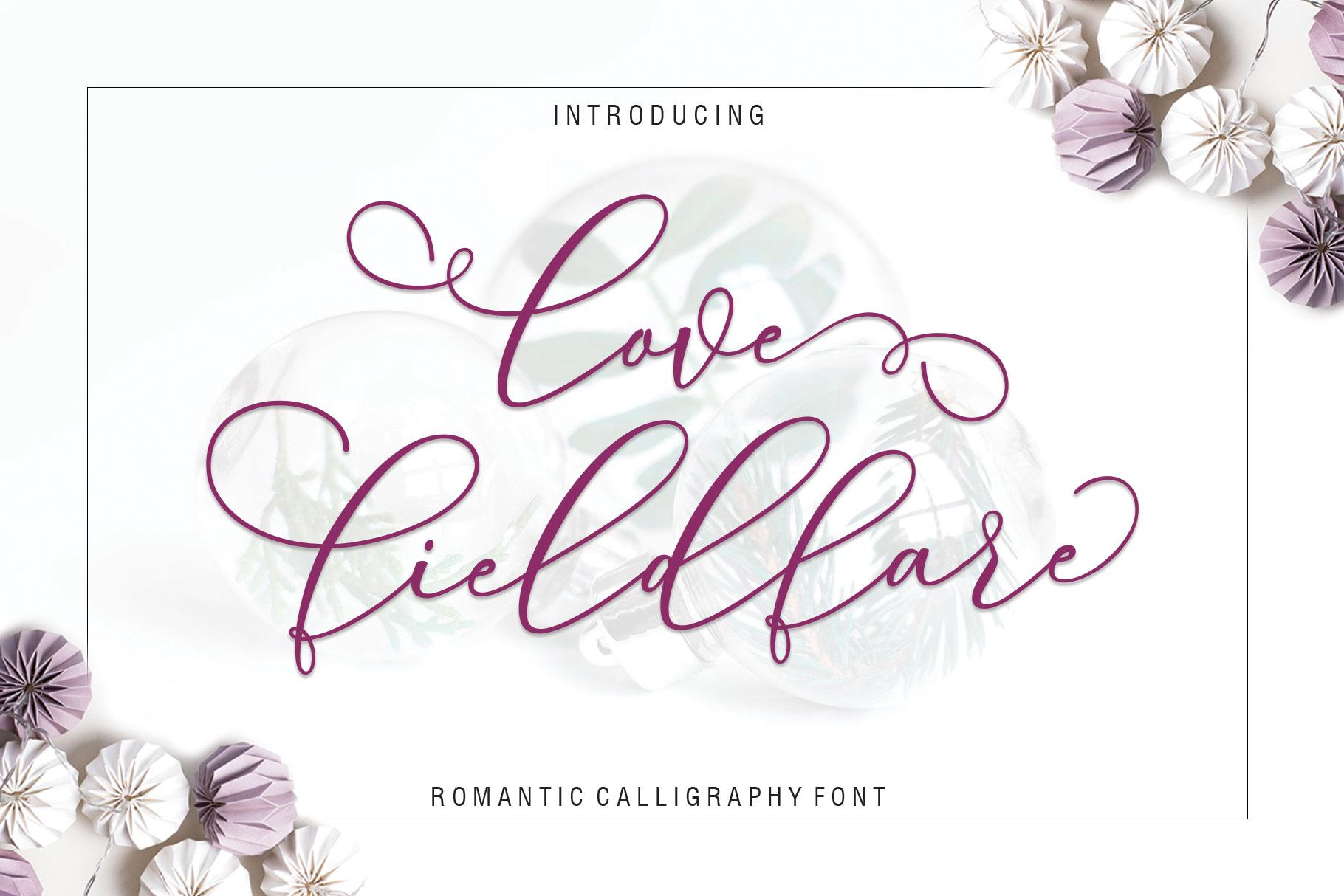Love Fieldfare Script example image 2