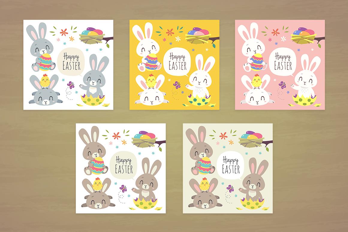 Easter Bunny Cartoon Set example image 3
