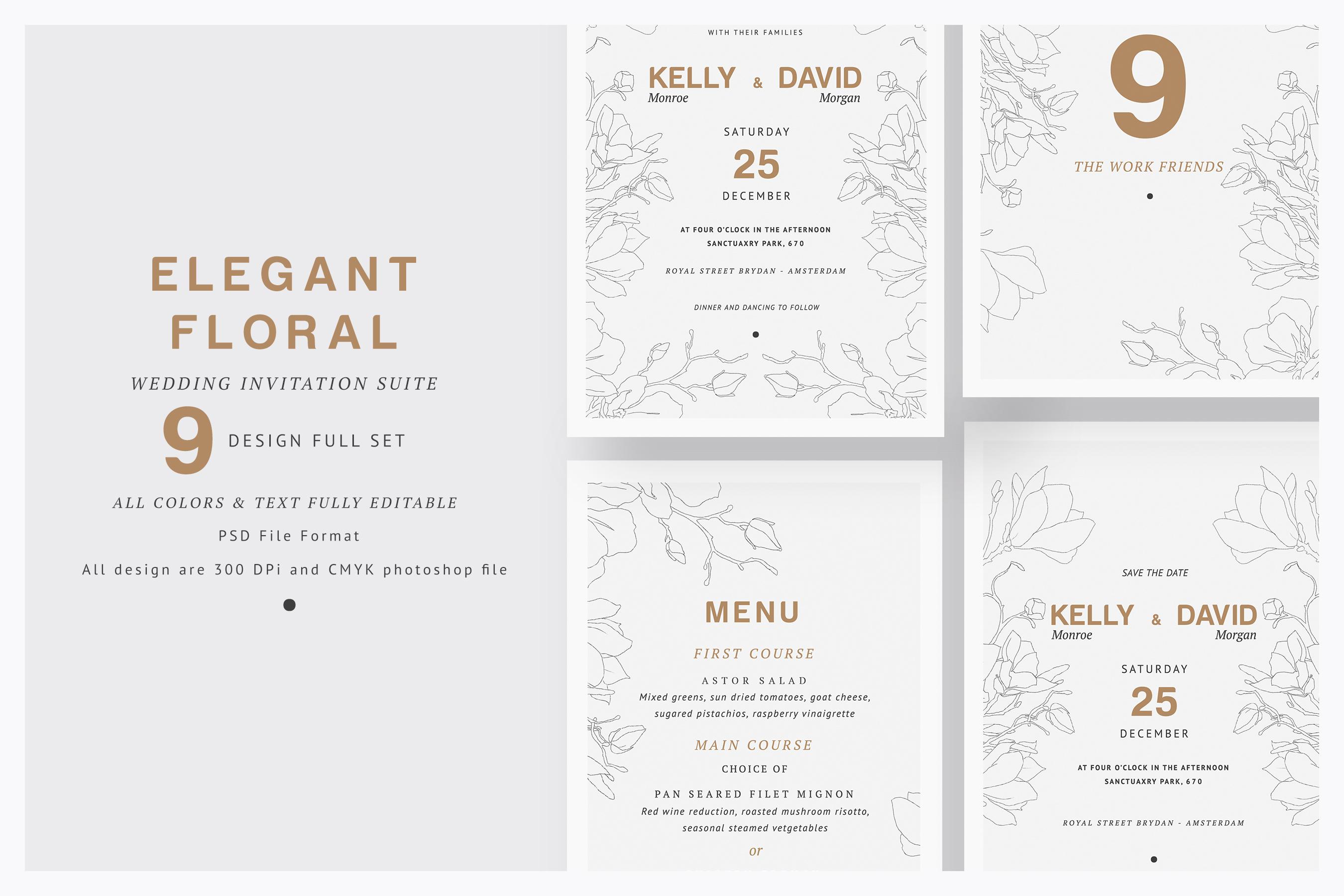 Elegant Floral Wedding Suite example image 1