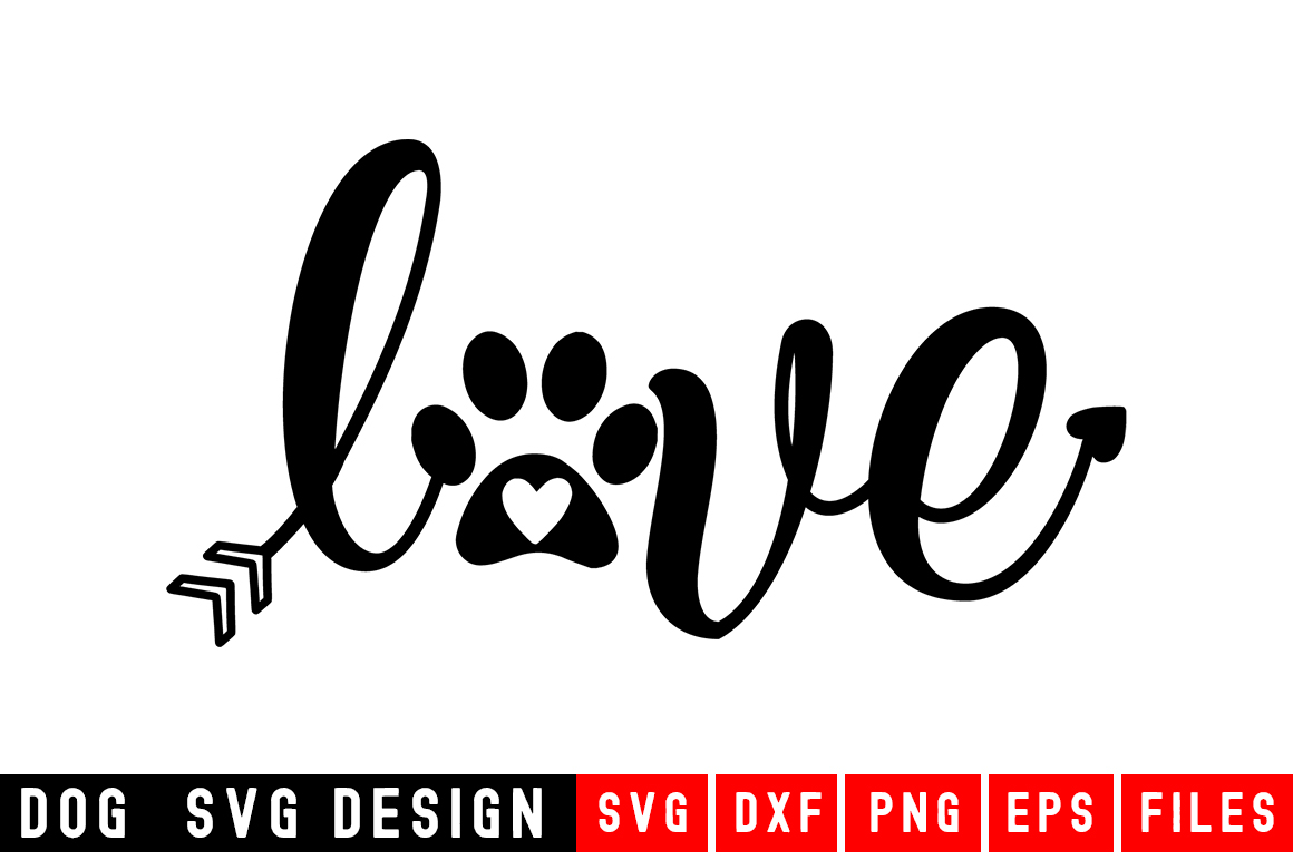 Love SVG with hearts svg|Fur Mom SVG|Animal and example image 1