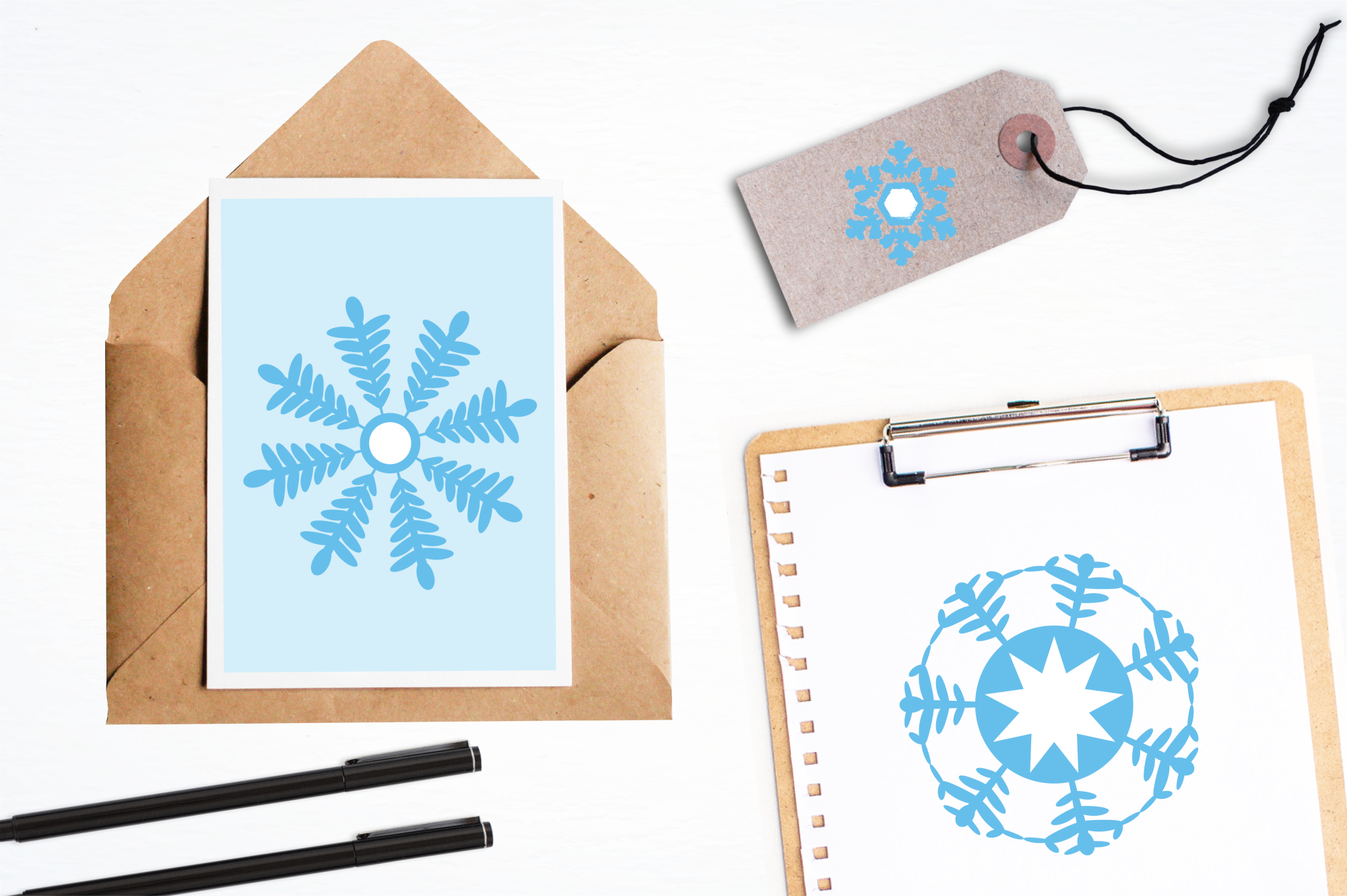 Snowflakes Icons graphics and illustrations example image 4