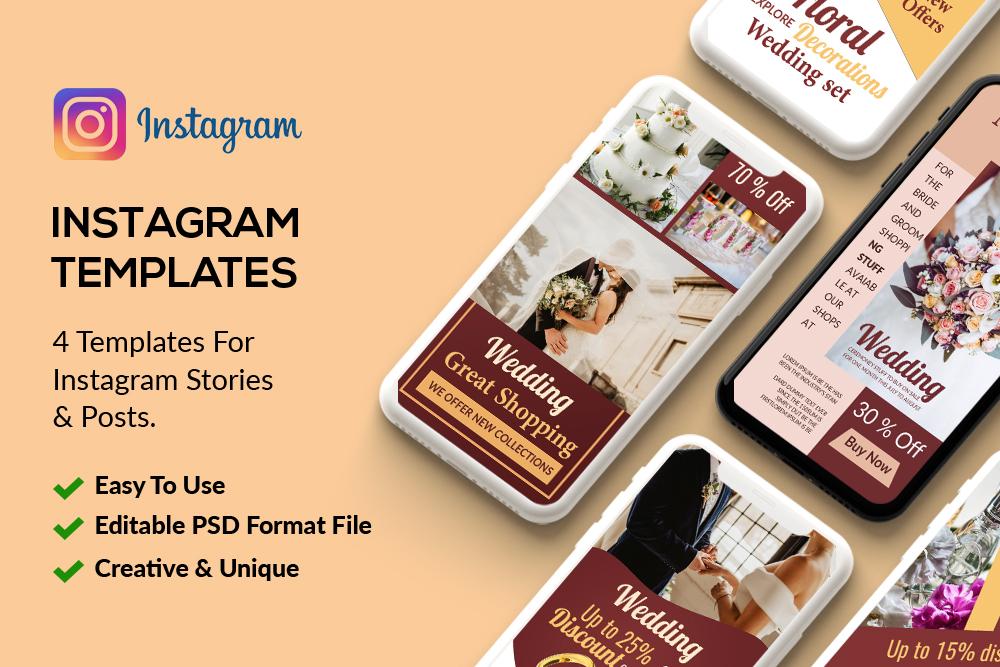4 Wedding Instagram Stories example image 1