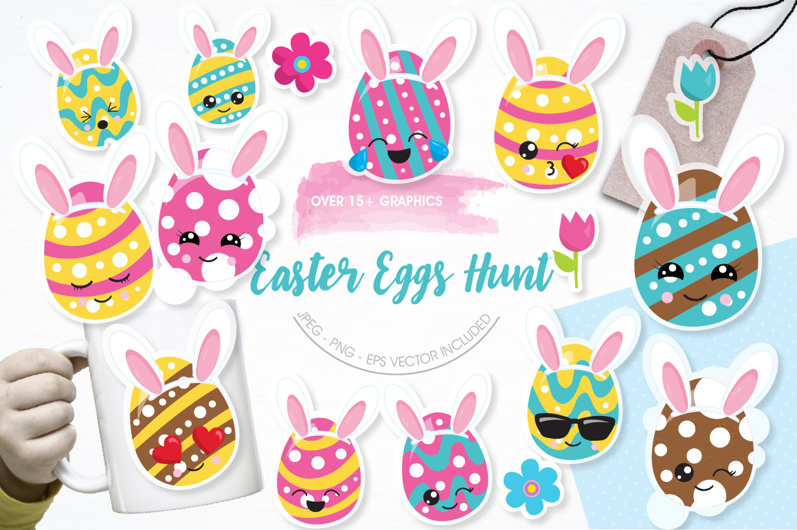 Easter Egg Hunt graphics and illustrations example image 1