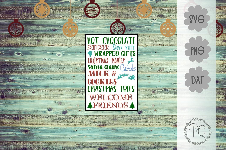 Christmas Subway Art SVG PNG JPG DXF example image 1