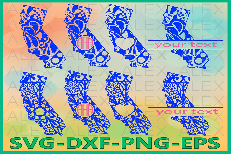 California State SVG, California Mandala SVG, California Svg example image 1