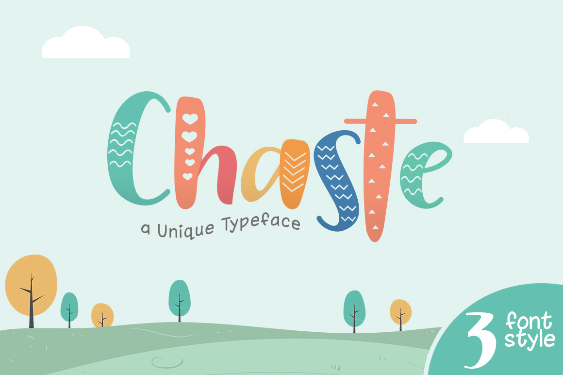 Chaste Display 3 Font example image 1