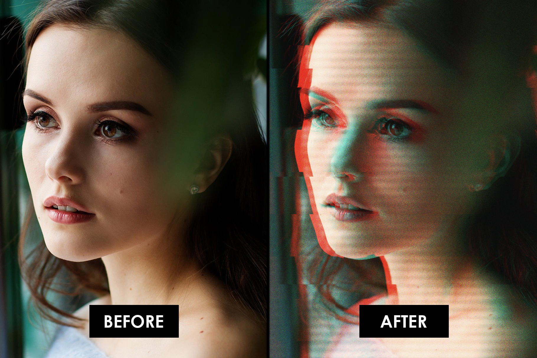Glitch Effect Photoshop Actions example image 7