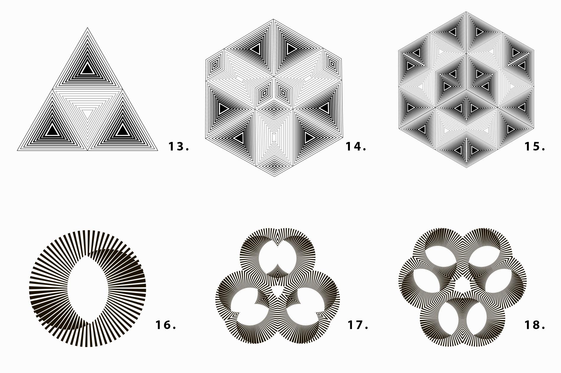 Illusion linear geometric shapes example image 8