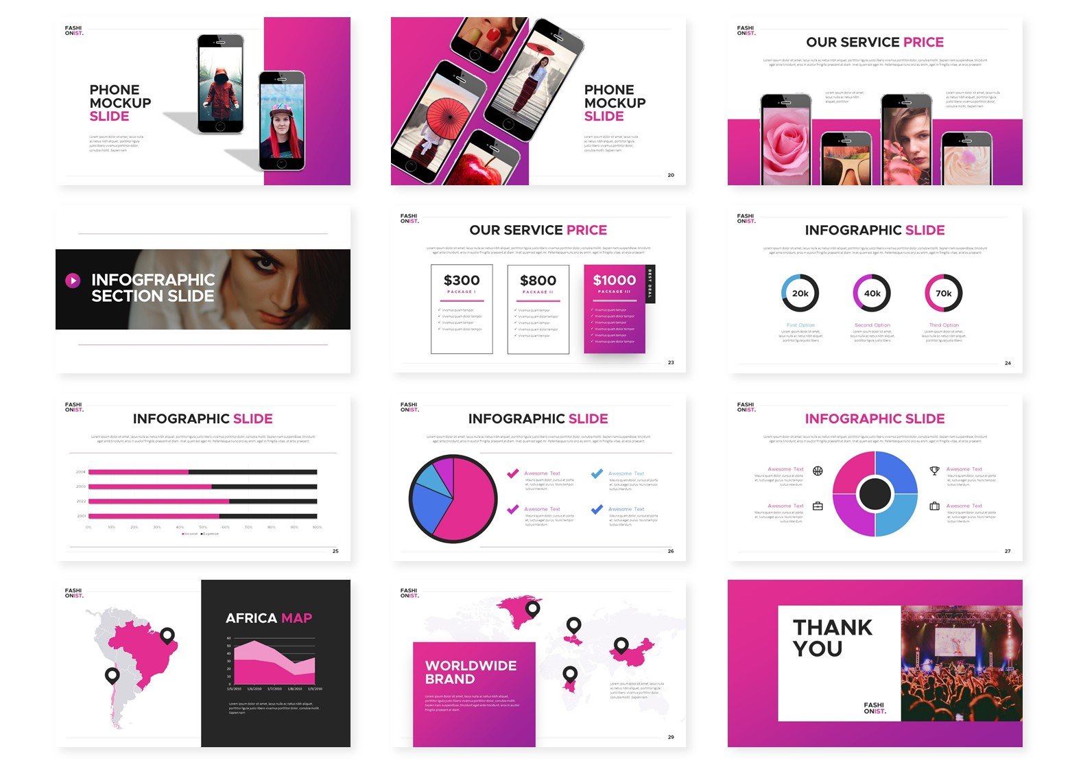 Fashionist   Powerpoint, Keynote, GoogleSlides Template example image 6