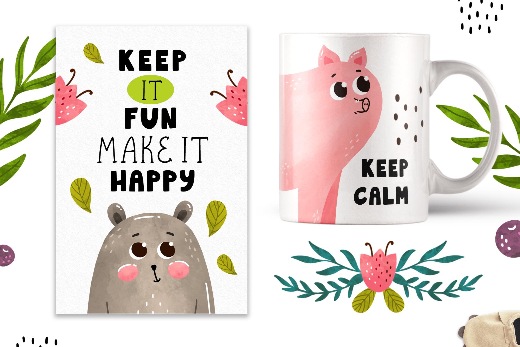 Funnybear & Funnydeer - Duo font example image 2