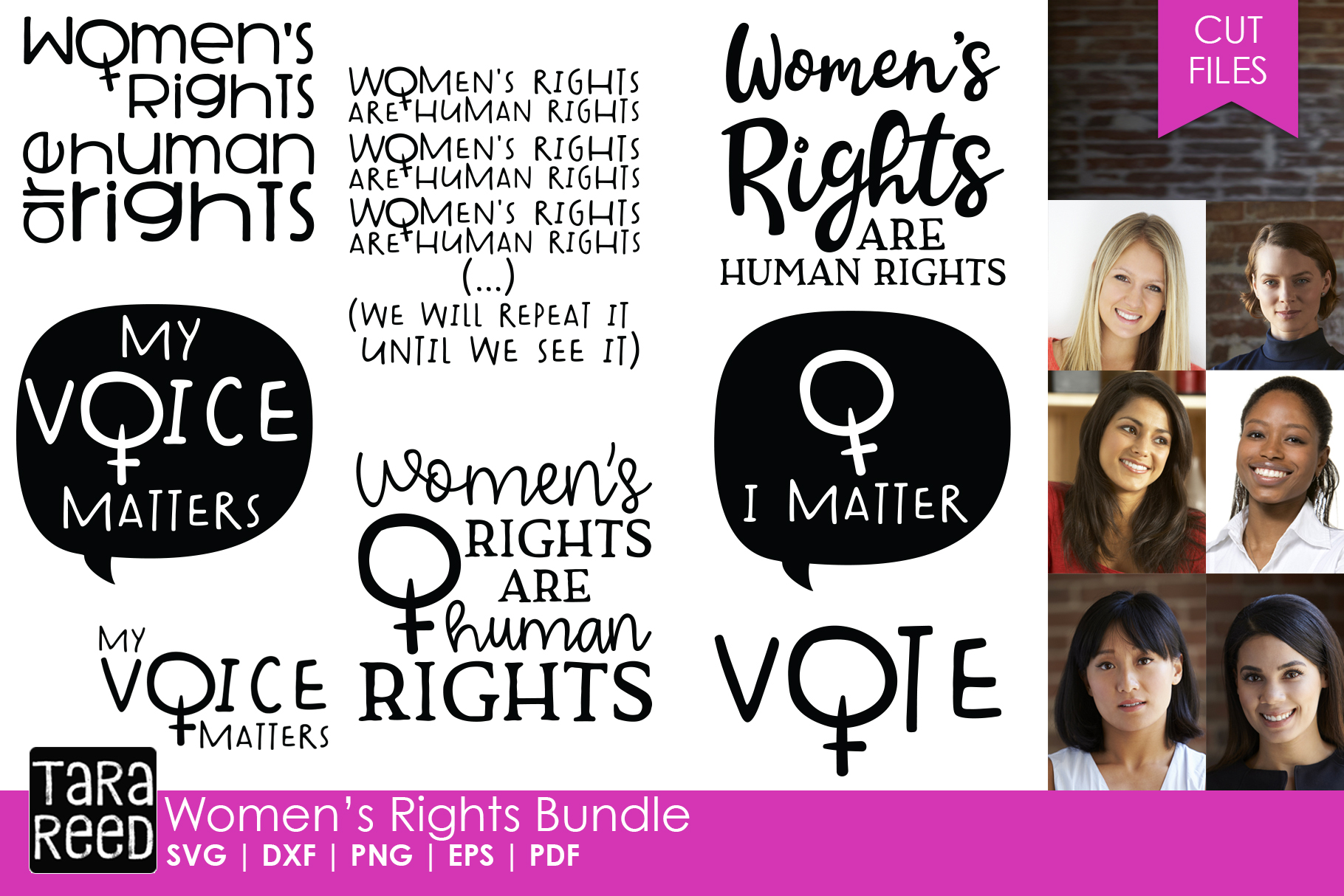 Women's Rights - Female Empowerment SVG files for Crafters example image 1