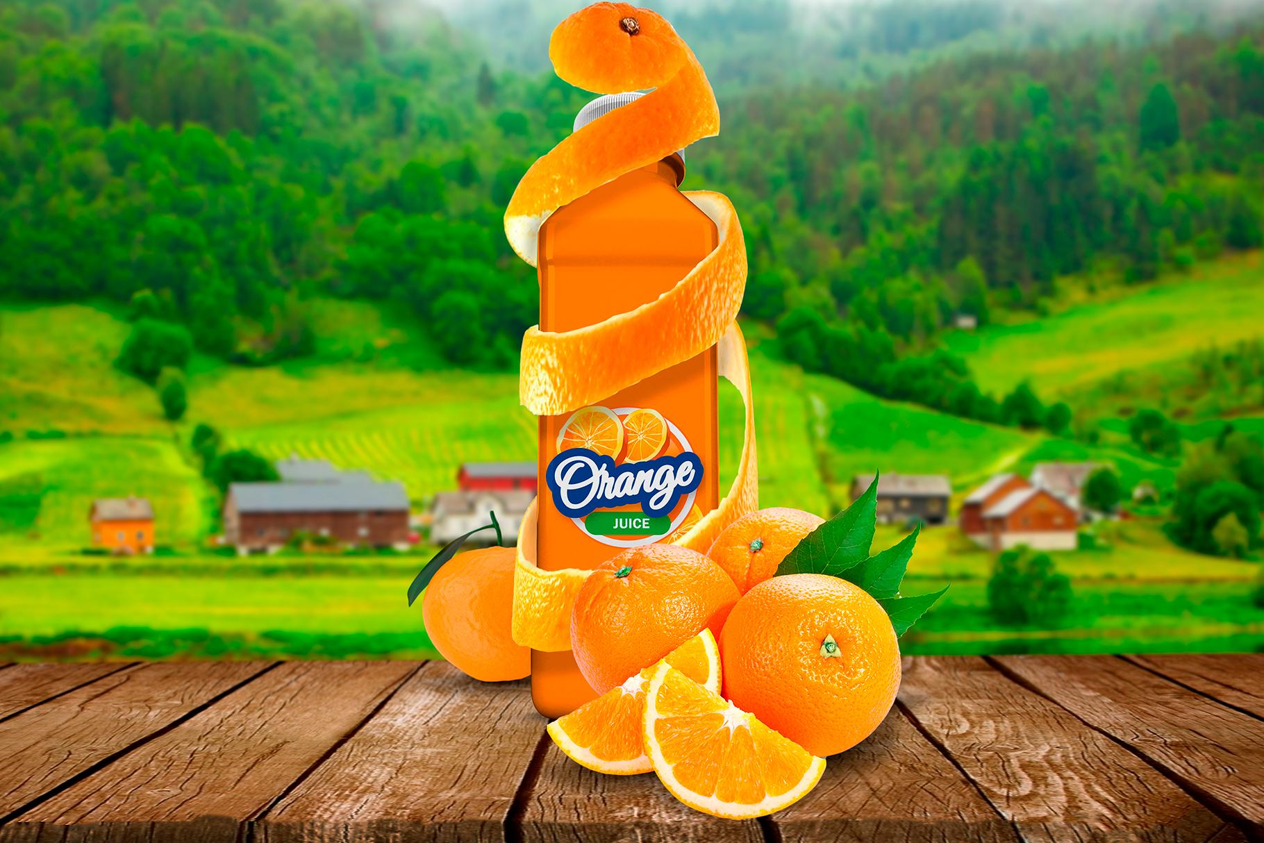 Bottle Juice Mockup Advertising example image 7