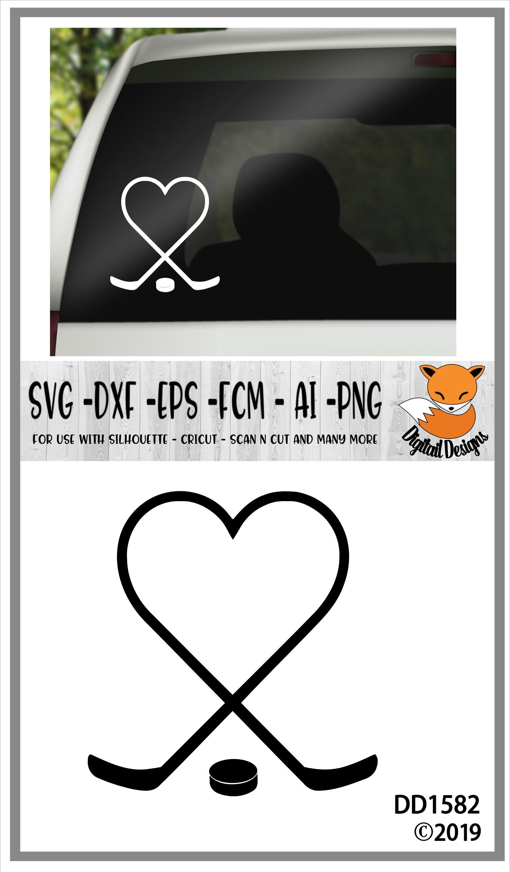 Hockey Heart SVG example image 2