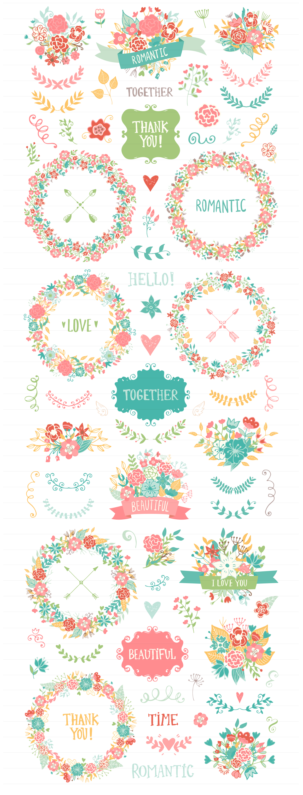 200 Wedding Floral Romantic Collection example image 3