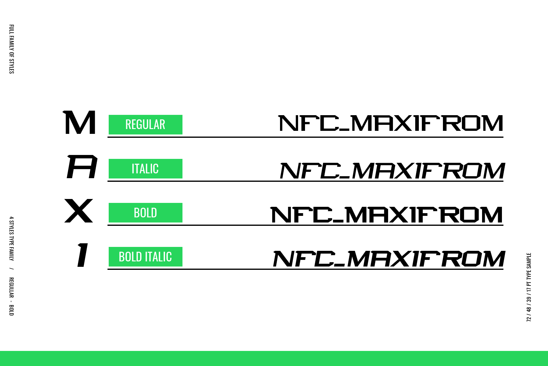 NFC MAXIMORF DISPLAY FONT example image 2