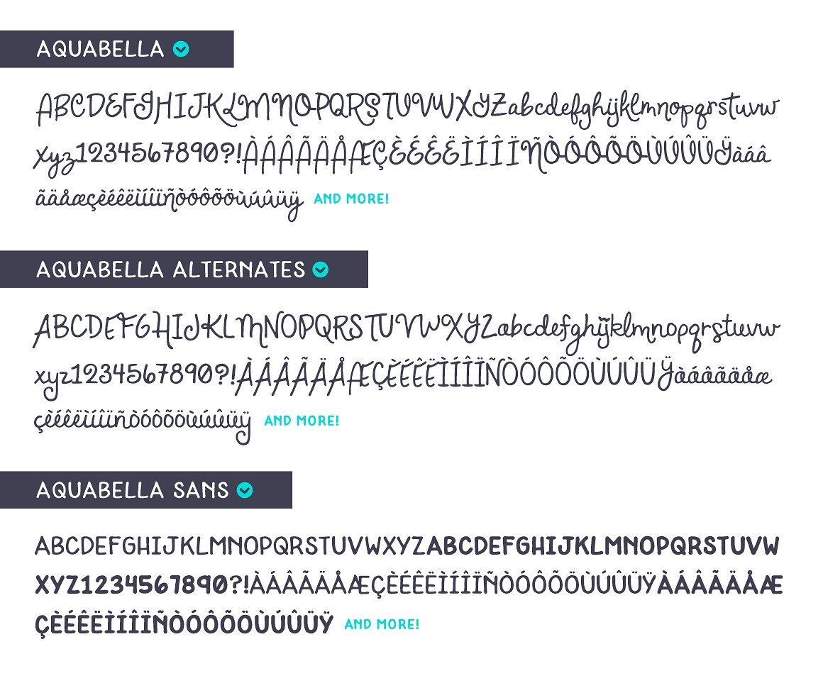 Aquabella Font Duo example image 8