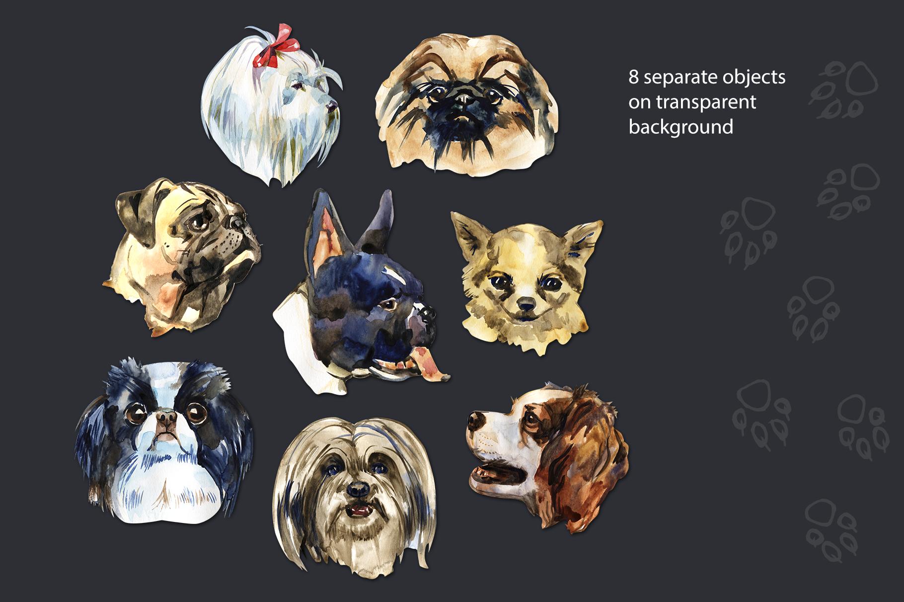 Decorative dogs set example image 2