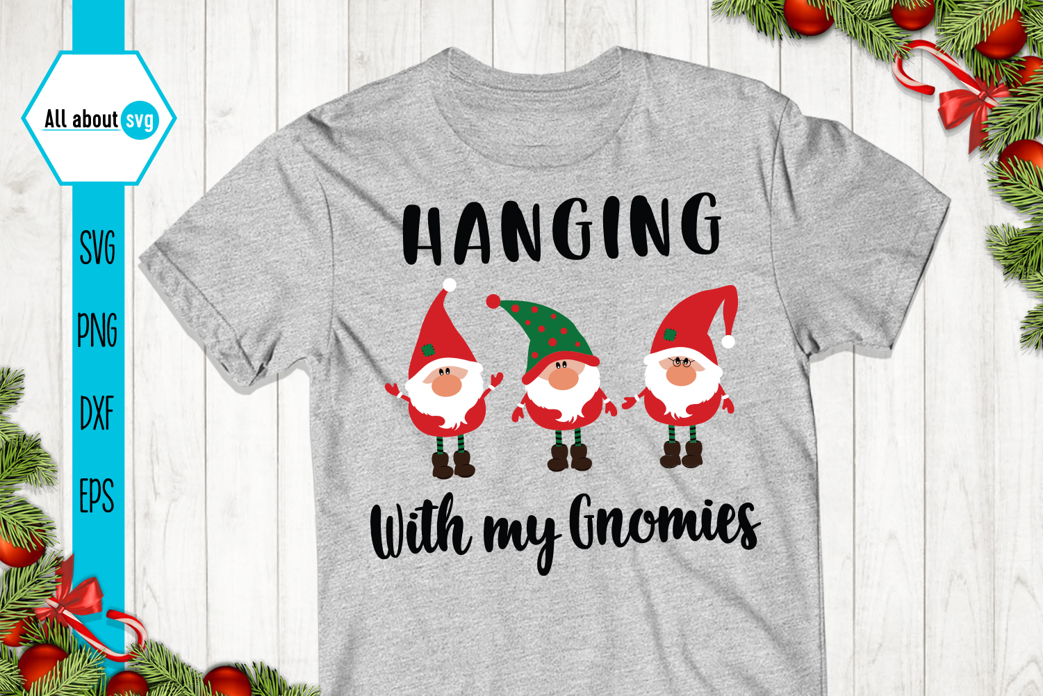 Hanging With My Gnomies Svg example image 2
