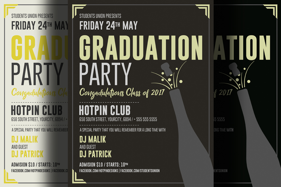 Graduation Party Flyer example image 1