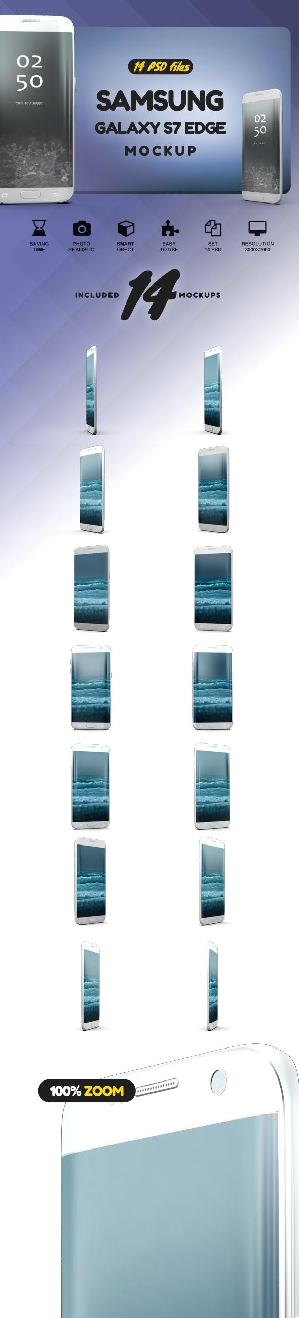 Samsung Galaxy S7 Edge Mockup example image 2