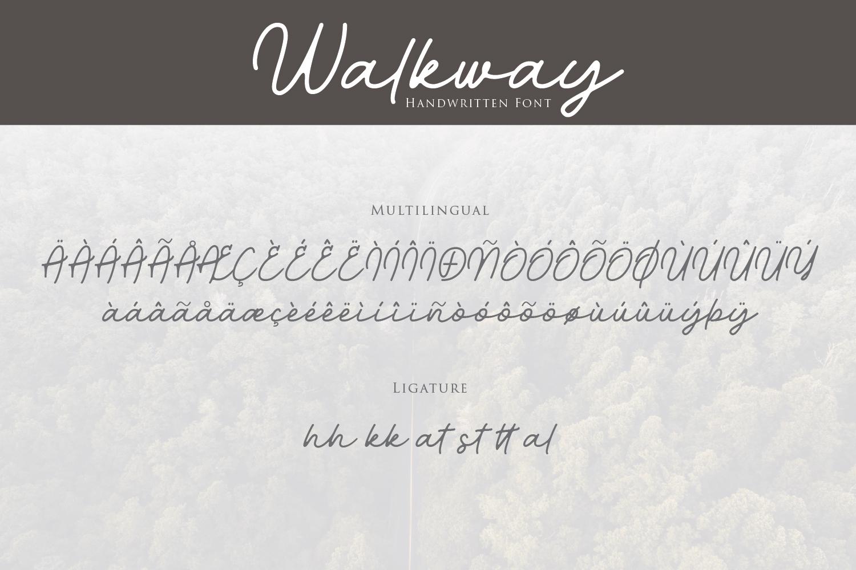 Walkway Font  Bonus Vector example image 9