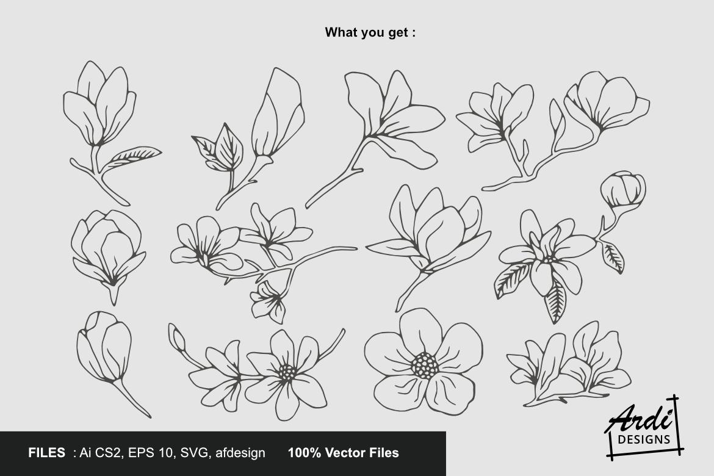 Magnolia Illustration example image 2