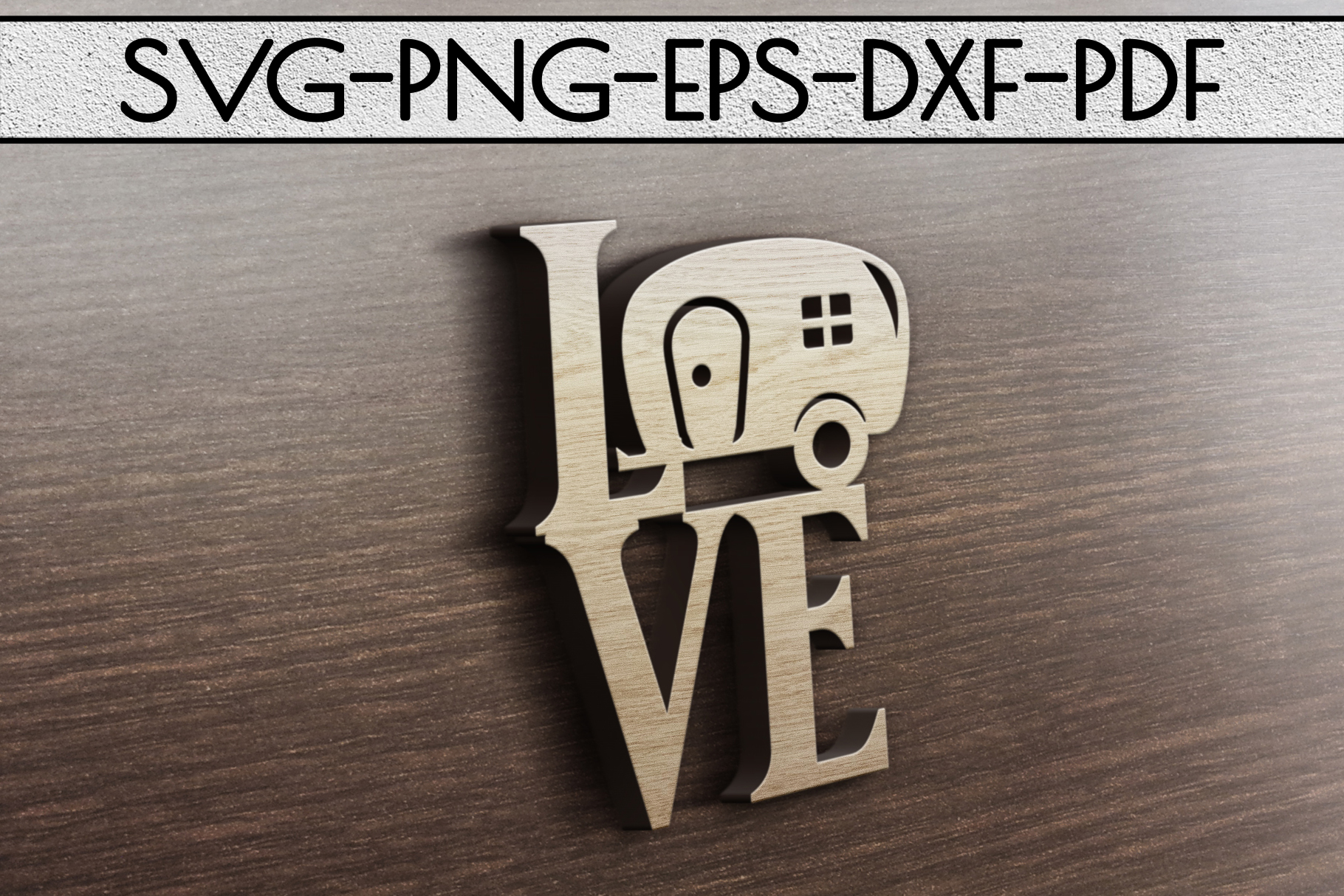 Love Camping Sign Papercut Template, Summer Camper SVG, PDF example image 3