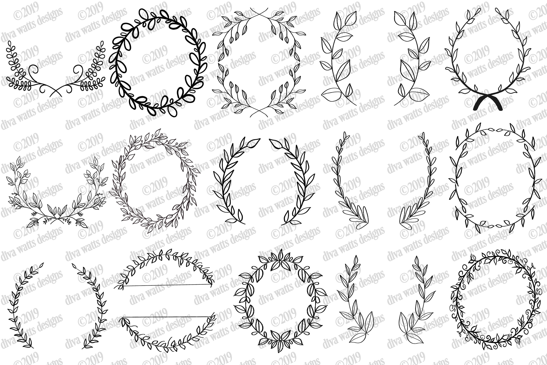 Farmhouse Cutting Files Bundle Elements Florals Wreaths More example image 4