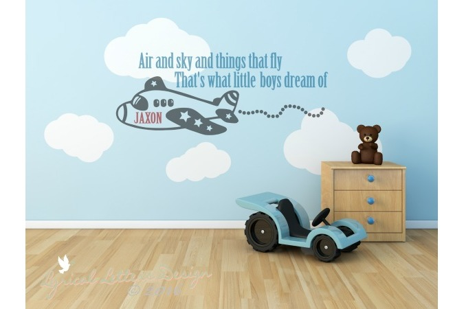 Air and Sky and Things That Fly That's What Little Boys Dream Of Cutting File LL107D  SVG DXF EPS AI JPG PNG example image 2