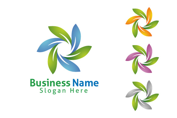 infinity Green leaf ecology logo template example image 6