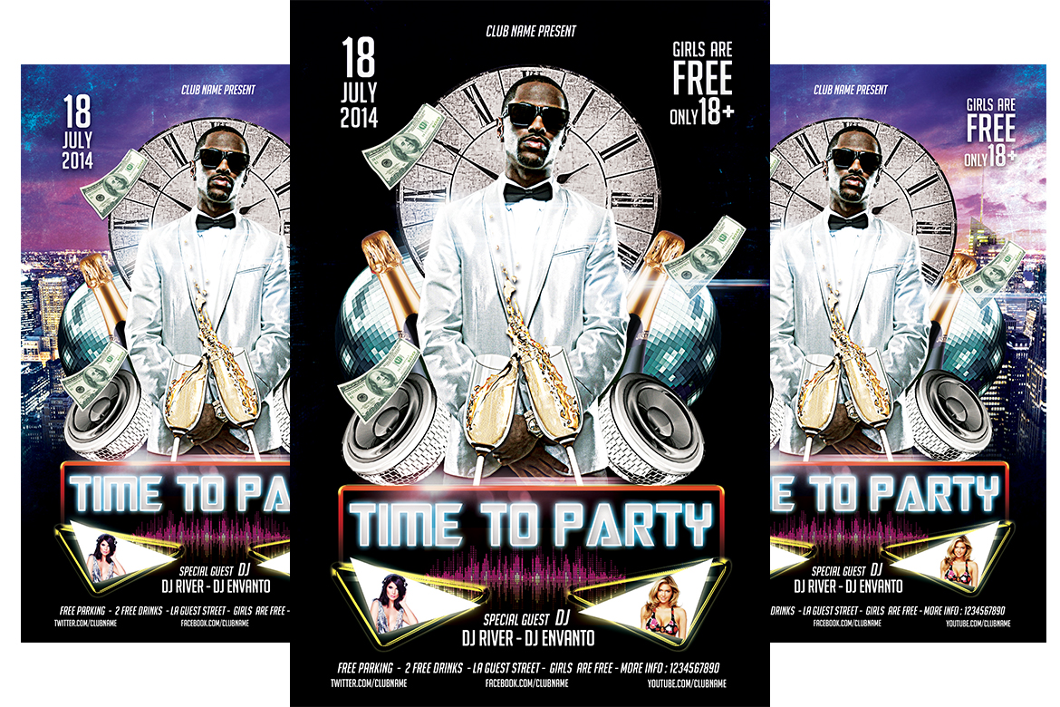 Party Time Flyer Template example image 1