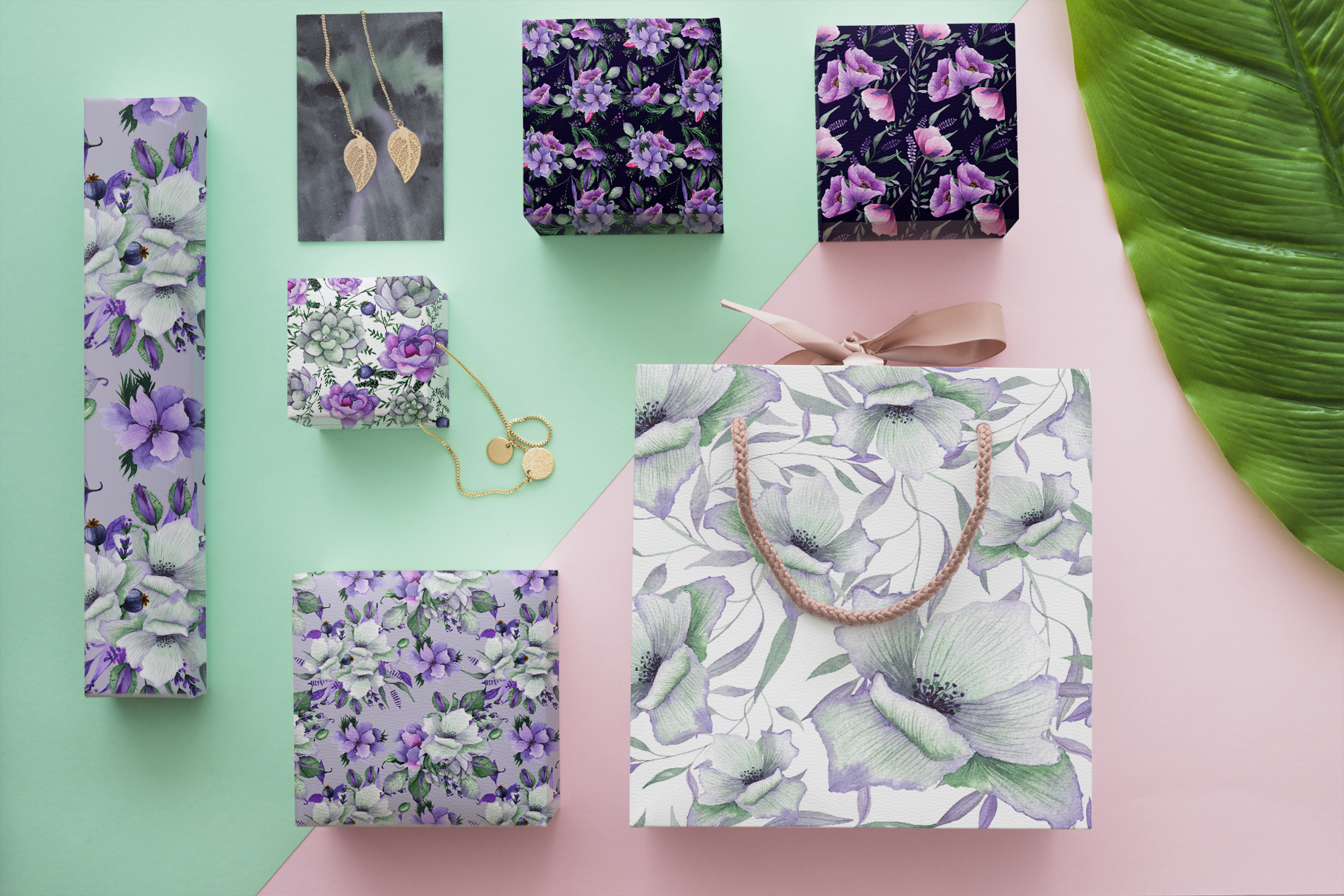 Floral purple green wedding collection example image 13