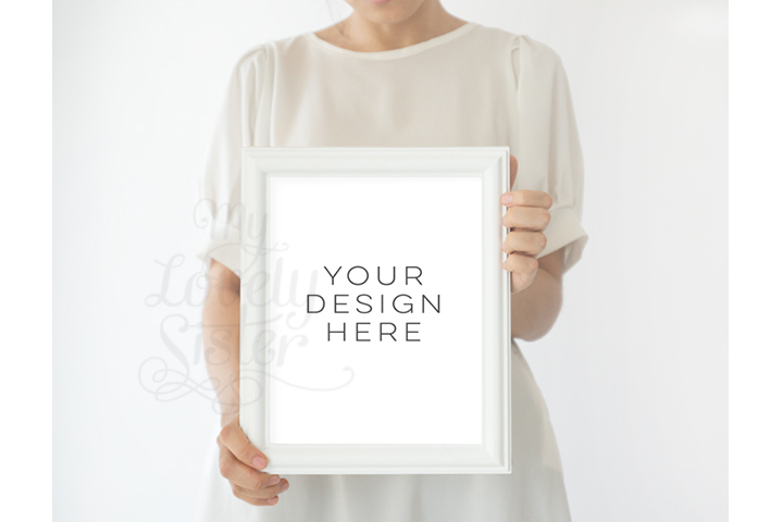 Frame Mock up, White Frame mockups, mockup frame,Instant Download, Digital Download Photo, Styled Background, Frame Stock Photo, Stock image example image 1