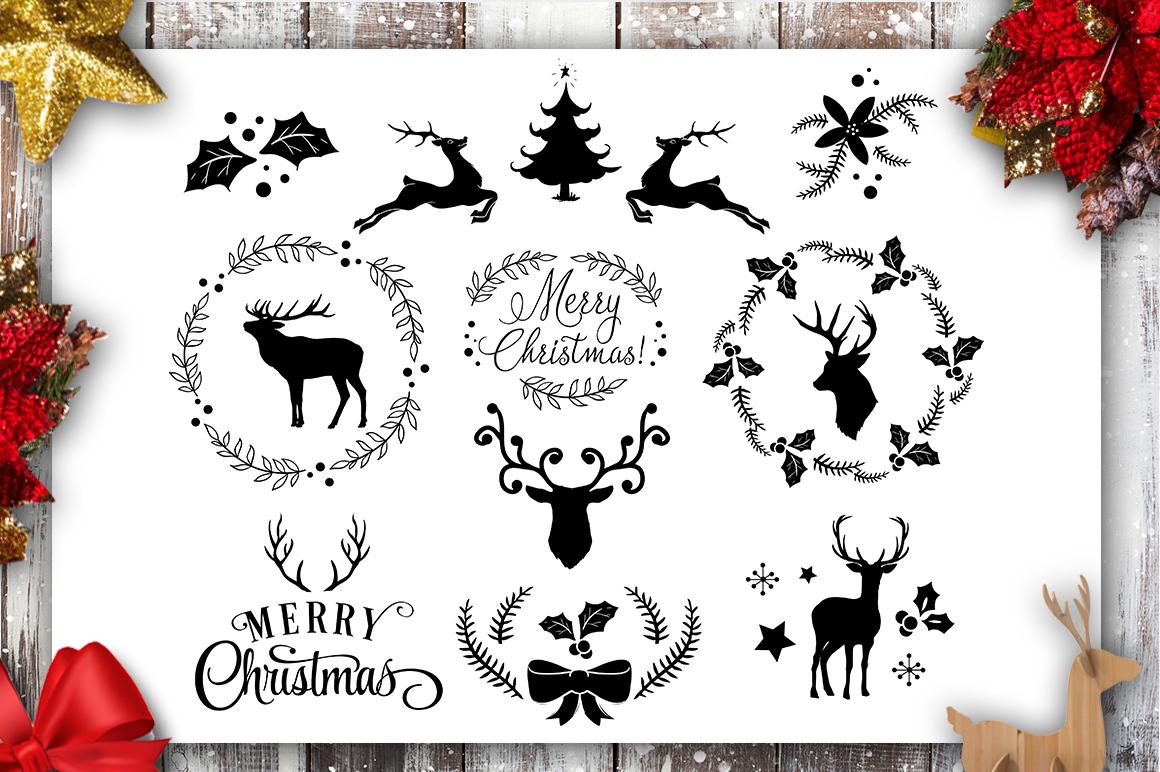 Christmas Bundle SVG bundle 40 designs Winter SVG example image 9