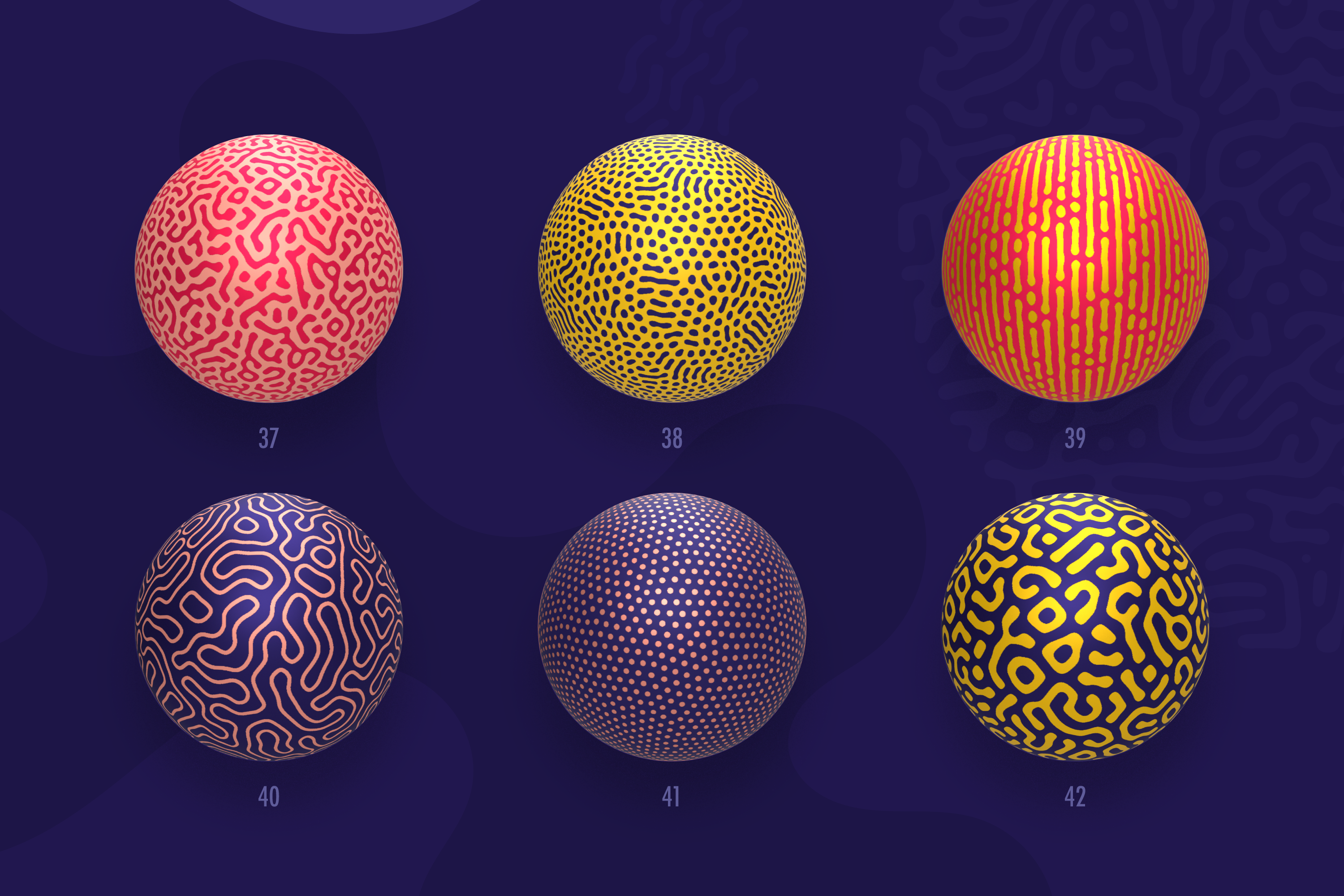 Organic Shapes 100 seamless textures collection example image 15