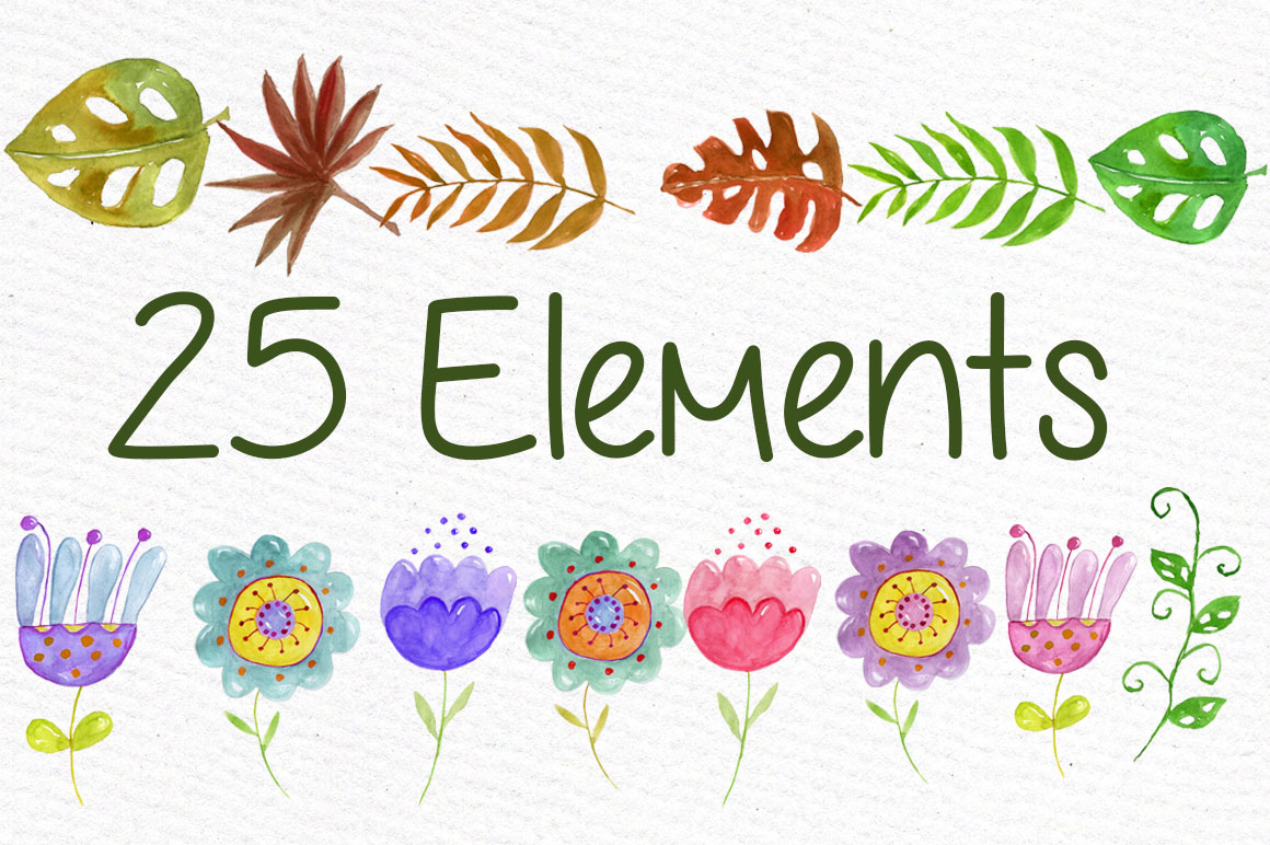 Watercolor animals clipart example image 3