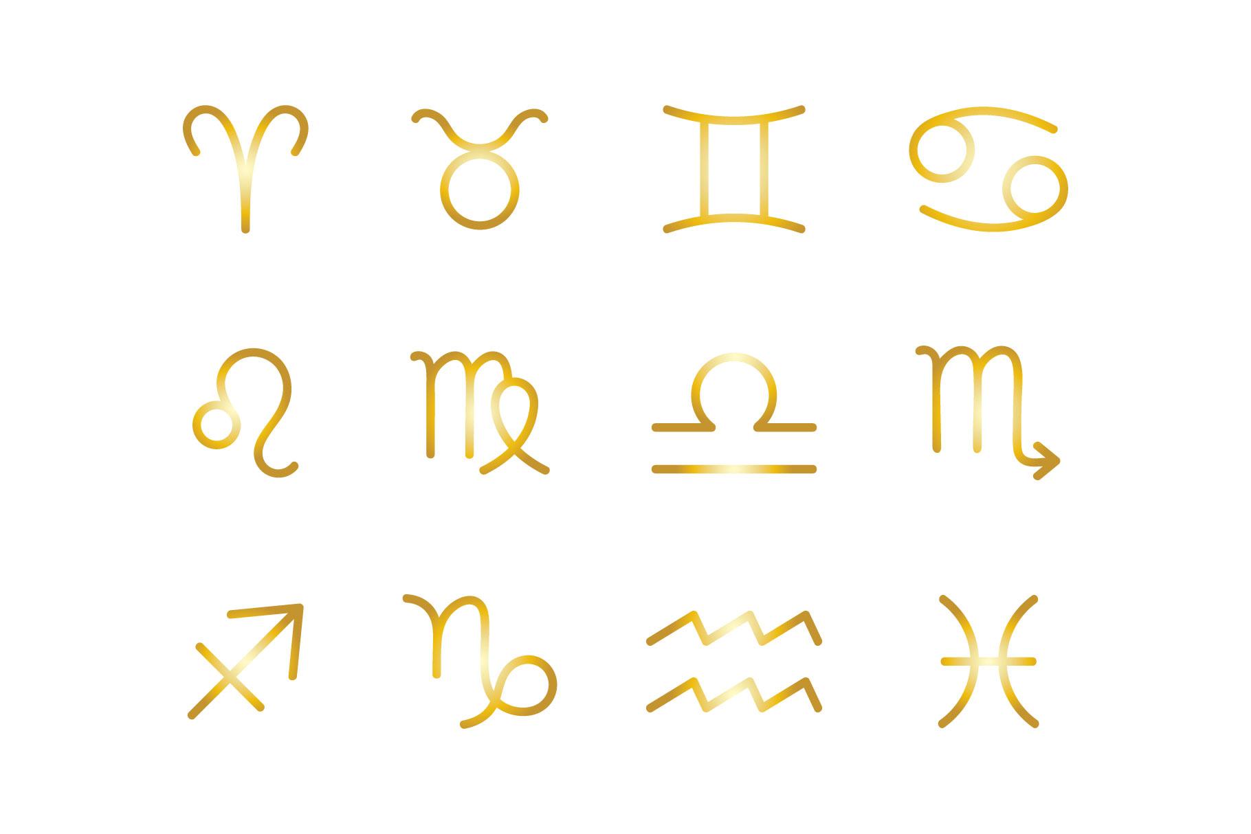 Zodiac Icons Set example image 4