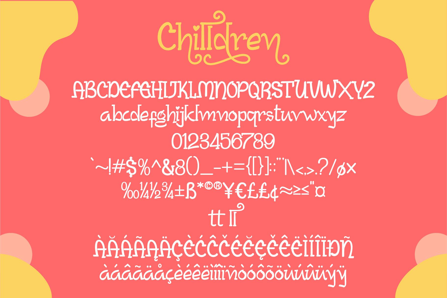 Chilldren Handwritten | Bonus Vector example image 6