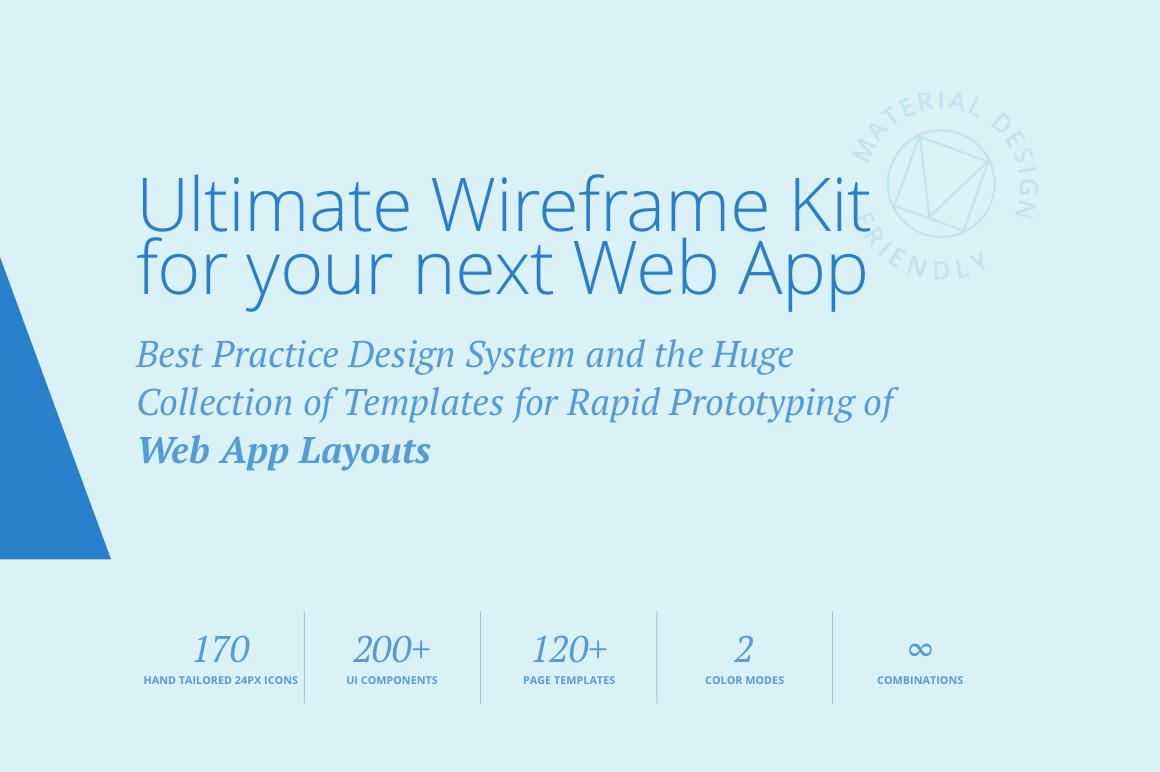 Adminian 4 Wireframe Kit example image 2