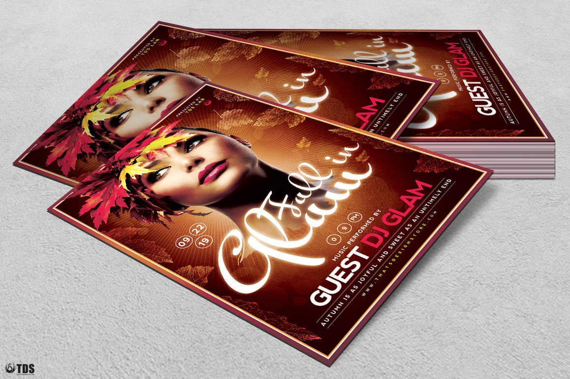 Fall in Glam Flyer Template V5 example image 4