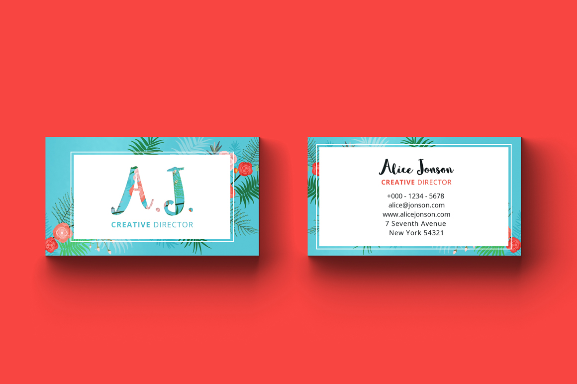 Floral Spring Business Card example image 3