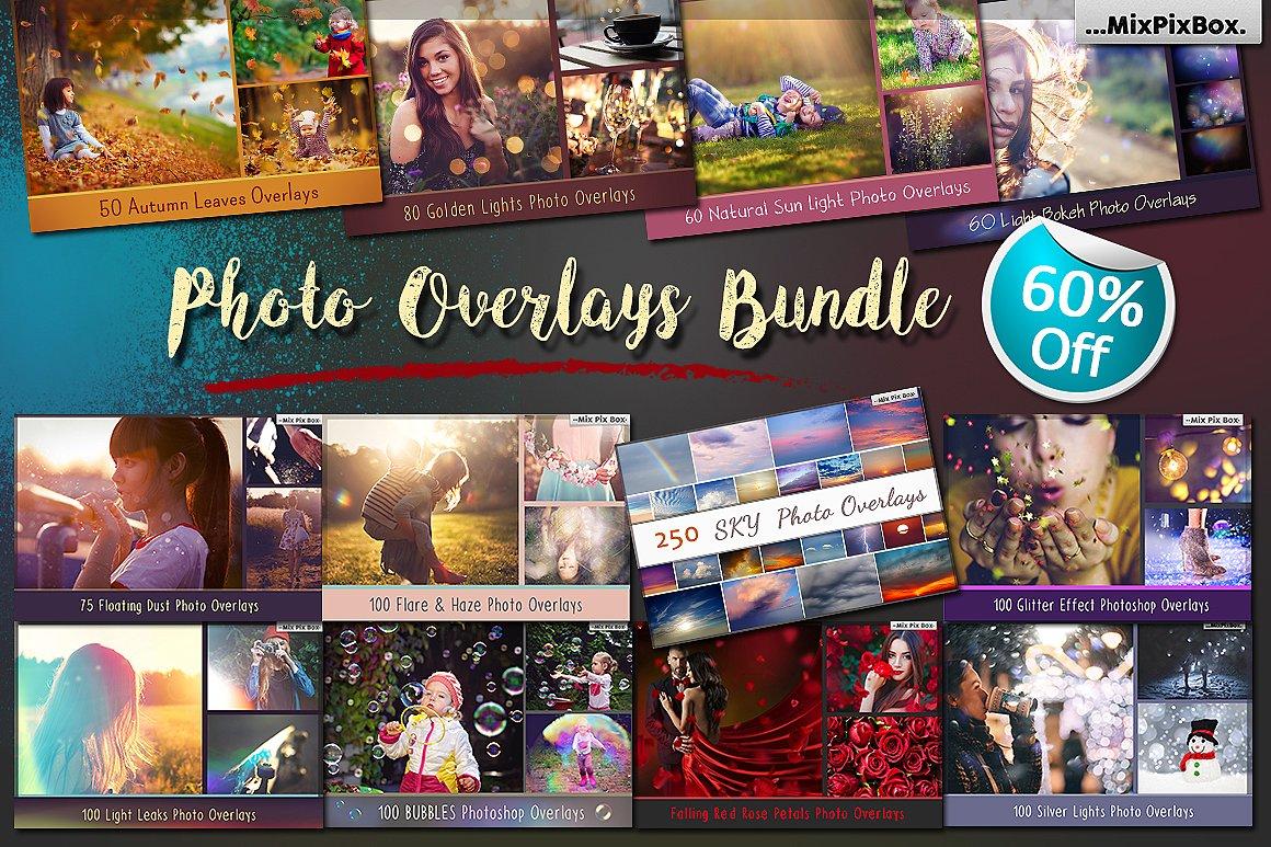 900 Photo Overlays Bundle example image 1