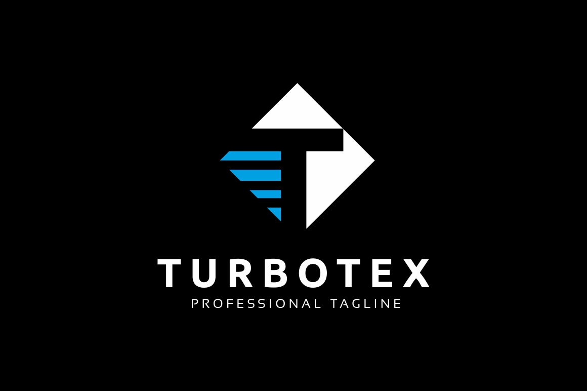 Turbotex T Letter Logo example image 2