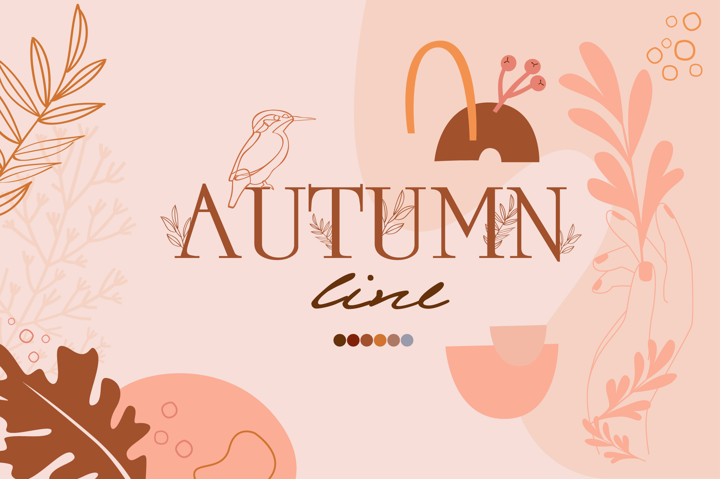 Autumn line collection example image 1