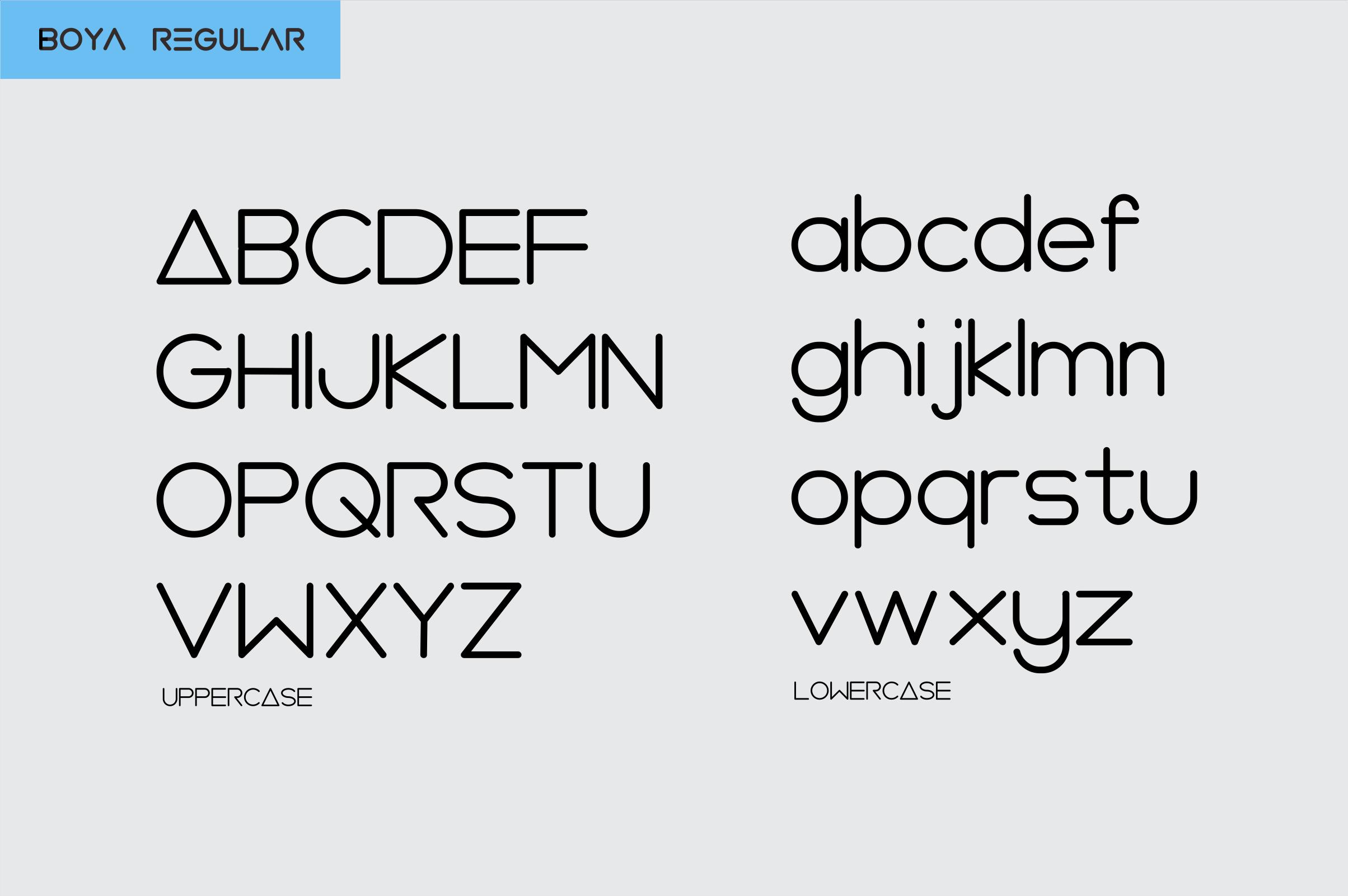 BOYA (rounded Font) example image 4