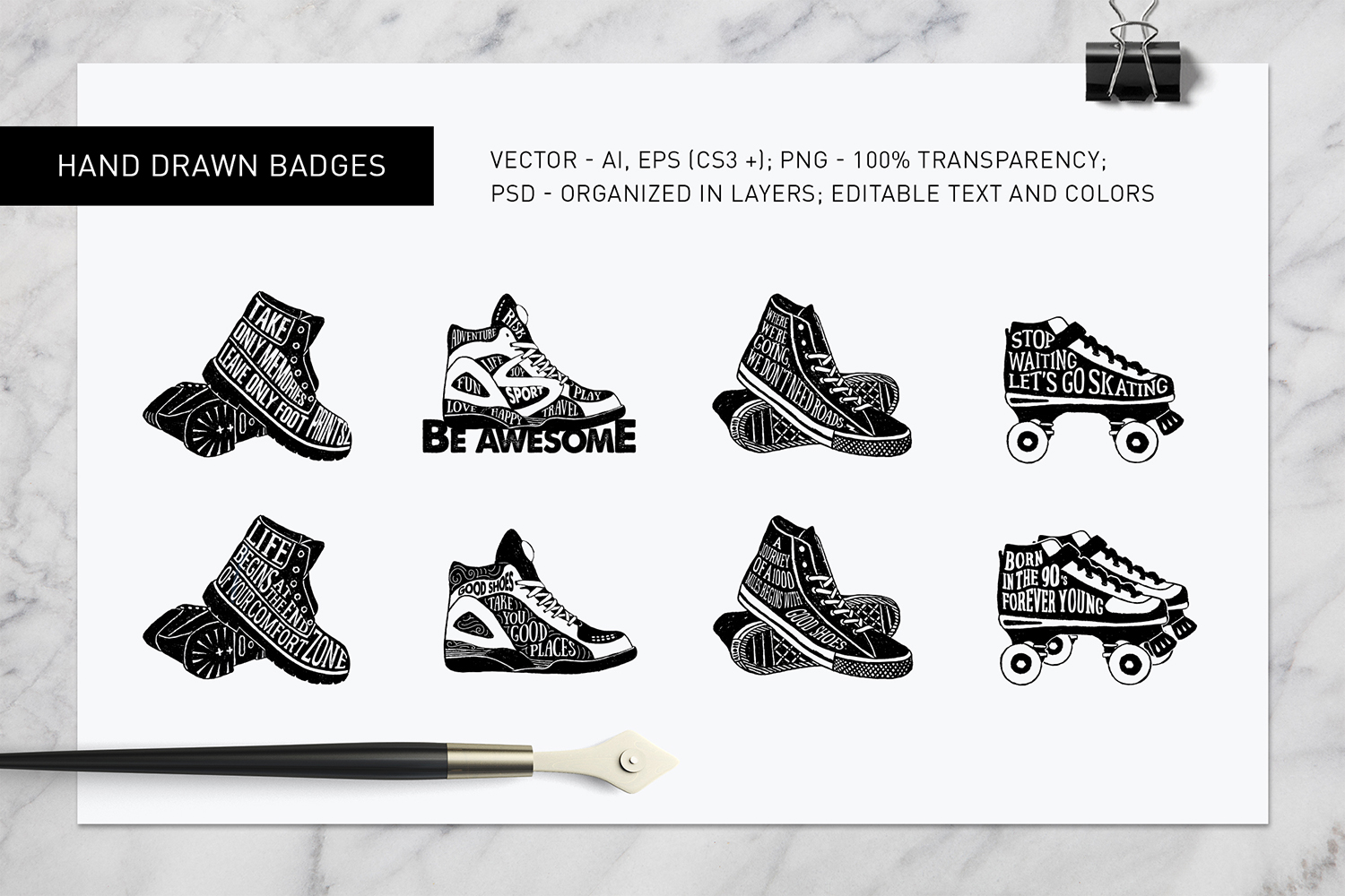 Good Shoes. 8 Inspirational Badges example image 5